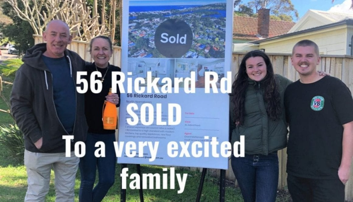 56 Rickard Rd SOLD To a very excited family