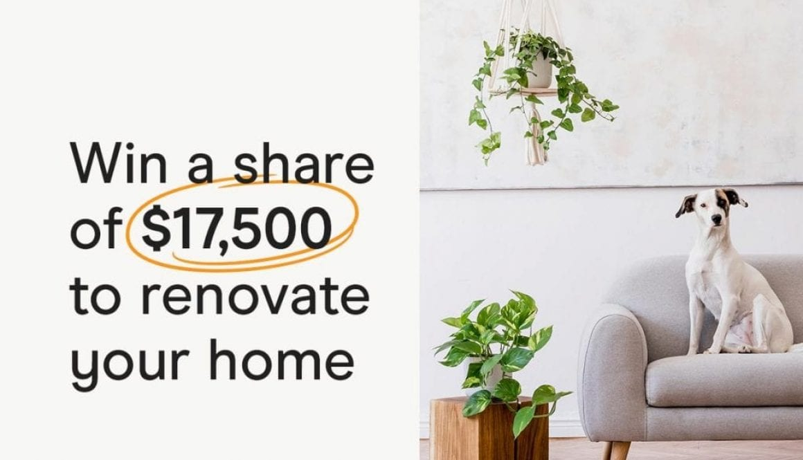 Win a share of $17,500 to renovate your home